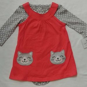 Carters 2pc Girls Dress and Bodysuit 12M NWT